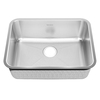 American Standard Previor 24-in x 28-in Silk and Brush Single-Basin Stainless Steel Undermount Residential Kitchen Sink