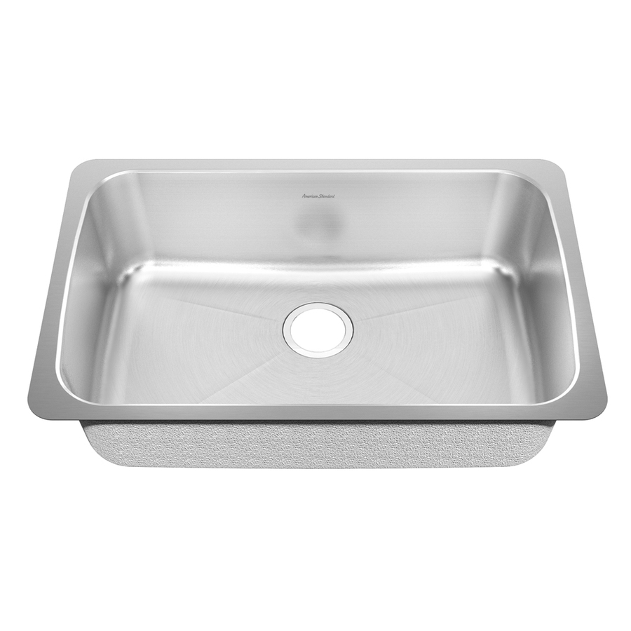 Shop american standard prevoir 18 gauge single basin undermount stainless steel kitchen sink at - American standard kitchen sink ...