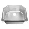 American Standard Prevoir 22.5-in x 27.5-in Radiant Silk Single-Basin Stainless Steel Undermount Kitchen Sink