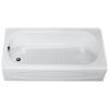 American Standard New Solar Enameled Steel Rectangular Skirted Bathtub with Left-Hand Drain (Common: 30-in x 60-in; Actual: 16.625-in x 30-in x 60-in)
