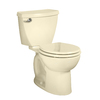 American Standard Cadet 3 Bone 1.6-GPF (6.06-LPF) 12-in Rough-in Round 2-Piece Standard Height Toilet