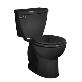 American Standard Cadet 3 Black 1.6-GPF (6.06-LPF) 12-in Rough-in Round 2-Piece Standard Height Toilet