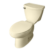 American Standard Cadet 3 Bone 1.6-GPF (6.06-LPF) 10-in Rough-in Elongated 2-Piece Standard Height Toilet
