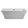 American Standard Tofino Acrylic Rectangular Freestanding Bathtub with Center Drain (Common: 66-in x 31-in; Actual: 23-in x 66.93-in x 31.49-in)