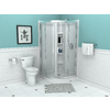 American Standard Axis 50.39-in W x 72-in H Silver Neo-Angle Shower Door