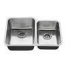 American Standard Danville 31-in x 20-in Stainless Steel Double-Basin Undermount Residential Kitchen Sink