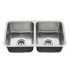 American Standard Danville 32-in x 18-in Stainless Steel Double-Basin Undermount Residential Kitchen Sink