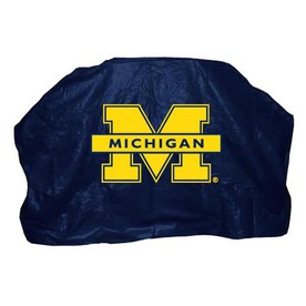 Seasonal Designs, Inc. Michigan Wolverines Blue Vinyl 59-in Grill Cover