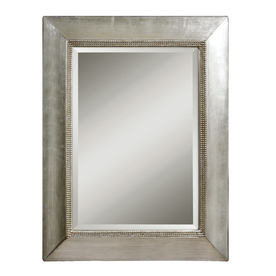 Shop global direct 40 in x 50 in antiqued scratched silver for Miroir 40x50