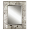 Global Direct 48-in x 58-in Black Edged Frame with Antiqued Tiled Mirrors Rectangular Framed Mirror