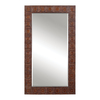 Global Direct 41.25-in x 71-in Copper Bronze Rectangular Framed Mirror
