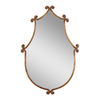 Global Direct 24-in x 37-in Antiqued Gold with Burnished Edges Polished Arch Framed French Wall Mirror