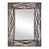 Global Direct 32-in x 42-in Distressed Mocha Brown Forged Metal with Black Undertones and Golden Brown Highlights Rectangle Framed Wall Mirror