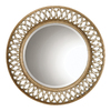 Global Direct 45-in x 45-in Scratched Silver Round Framed Mirror