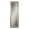 Global Direct 24.25-in x 76.25-in Distressed Silver Leaf with A Black Undercoat Beveled Rectangle Framed French Wall Mirror