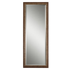 Global Direct 24.125-in x 64.125-in Antiqued Silver with Burnished Edges Beveled Rectangle Framed French Wall Mirror