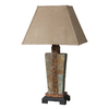 Global Direct 29-in Slate Outdoor Table Lamp with Tan Shade
