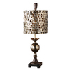 Global Direct 32-in Antiqued Silver Table Lamp with Champagne Shade