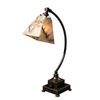 Global Direct 24-in Black Table Lamp with Black and Silver Shade