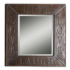 "allen + roth 34""H x 30""W Live Laugh Love Rectangular Mirror"