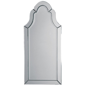 allen + roth 36.125-in x 20.125-in Silver Beveled Arch Frameless Venetian Wall Mirror