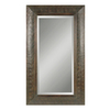 Global Direct 40.5-in x 70.5-in Mahogany Brown Beveled Rectangle Framed French Wall Mirror