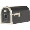 First Class 9-5/8-in x 11-3/4-in Metal Black Post Mount Mailbox