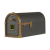 First Class 9-5/8-in x 11-3/4-in Metal Bronze Post Mount Mailbox