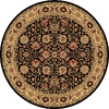 Rugs America New Vision 5-ft 3-in x 5-ft 3-in Round Black Floral Area Rug