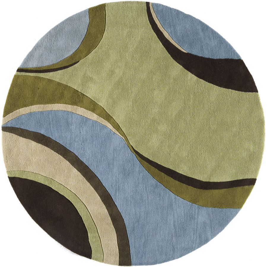 Shop Rugs America 6 Ft Round Jamison Sky Flores Area Rug At