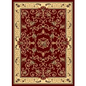Rugs America New Vision Rectangular Red Floral Woven Area Rug (Common: 8-ft x 10-ft; Actual: 7.83-ft x 10.83-ft)