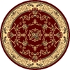 Rugs America New Vision 5-ft 3-in x 5-ft 3-in Round Red Floral Area Rug