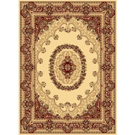 Rugs America New Vision Rectangular Cream Floral Woven Area Rug (Common: 4-ft x 6-ft; Actual: 3.91-ft x 5.25-ft)
