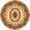 Rugs America New Vision Kerman Cream Round Indoor Woven Area Rug (Actual: 5.25-ft Dia)