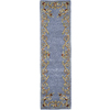 Rugs America Flora 2-ft 3-in W x 8-ft L Blue Runner