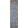Rugs America Flora 2-ft 3-in W x 8-ft L Blue Wool Runner
