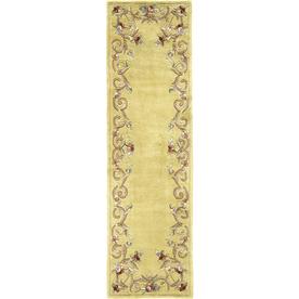 Rugs America Flora 2-ft 3-in W x 8-ft L Cream Wool Runner