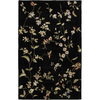 Rugs America 8-ft 6-in x 11-ft 6-in Misty Black Flora Area Rug