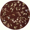 Rugs America 6-ft Round Heritage Red Flora Area Rug