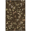 Rugs America 3-ft 6-in x 5-ft 6-in Mocha Brown Flora Area Rug