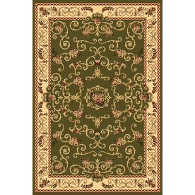 Rugs America New Vision Souvanerie Olive Rectangular Indoor Woven Area Rug (Common: 8 x 10; Actual: 94-in W x 130-in L)