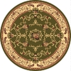 Rugs America New Vision Souvanerie Olive Round Indoor Woven Area Rug (Actual: 5.25-ft Dia)