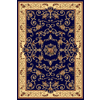 Rugs America New Vision 5-ft 3-in x 7-ft 10-in Rectangular Blue Floral Area Rug