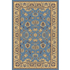 Rugs America New Vision Kashan Light Blue Rectangular Indoor Woven Area Rug (Common: 4 x 6; Actual: 47-in W x 63-in L)