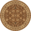 Rugs America New Vision 5-ft 3-in x 5-ft 3-in Round Tan Floral Area Rug