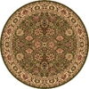 Rugs America New Vision Round Green Floral Woven Area Rug (Common: 5-ft x 5-ft; Actual: 5.25-ft x 5.25-ft)