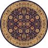 Rugs America New Vision Round Blue Floral Woven Area Rug (Common: 5-ft x 5-ft; Actual: 5.25-ft x 5.25-ft)