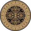 Rugs America New Vision Lilihan Black Round Indoor Woven Area Rug (Actual: 5.25-ft Dia)