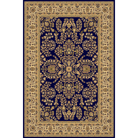 Rugs America New Vision Rectangular Blue Floral Woven Area Rug (Common: 4-ft x 6-ft; Actual: 3.91-ft x 5.25-ft)
