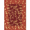 Rugs America Torino 24-in x 35-in Rectangular Red Transitional Accent Rug